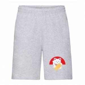 Men's shorts Cat for luck - PrintSalon