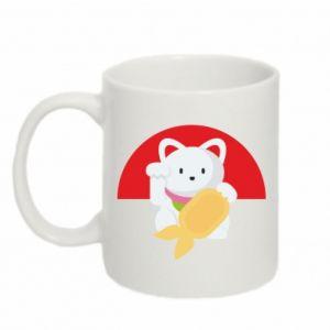 Mug 330ml Cat for luck - PrintSalon