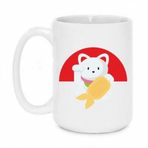 Mug 450ml Cat for luck - PrintSalon