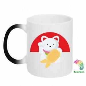 Chameleon mugs Cat for luck - PrintSalon