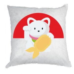 Pillow Cat for luck - PrintSalon