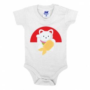 Baby bodysuit Cat for luck - PrintSalon