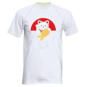 Men's sports t-shirt Cat for luck - PrintSalon