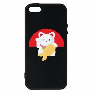 Phone case for iPhone 5/5S/SE Cat for luck - PrintSalon