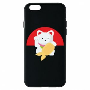 Phone case for iPhone 6/6S Cat for luck - PrintSalon