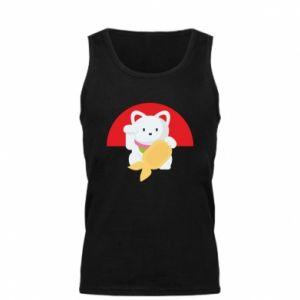 Men's t-shirt Cat for luck - PrintSalon