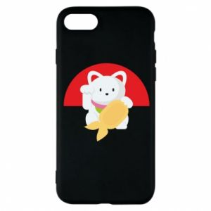 Phone case for iPhone 8 Cat for luck - PrintSalon