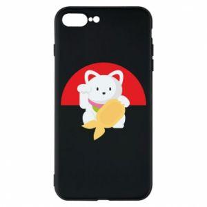 Phone case for iPhone 8 Plus Cat for luck - PrintSalon