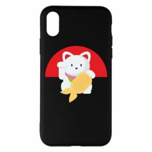 Phone case for iPhone X/Xs Cat for luck - PrintSalon