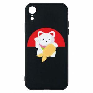 Phone case for iPhone XR Cat for luck - PrintSalon