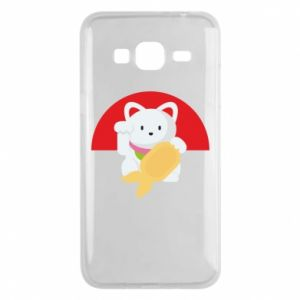 Phone case for Samsung J3 2016 Cat for luck
