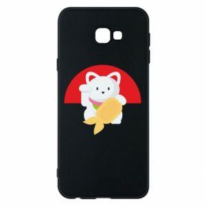 Phone case for Samsung J4 Plus 2018 Cat for luck - PrintSalon