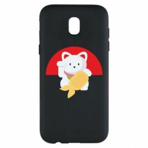 Phone case for Samsung J5 2017 Cat for luck - PrintSalon