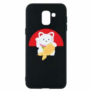 Phone case for Samsung J6 Cat for luck - PrintSalon
