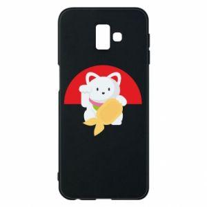 Phone case for Samsung J6 Plus 2018 Cat for luck - PrintSalon