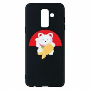 Phone case for Samsung A6+ 2018 Cat for luck - PrintSalon