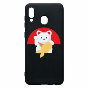 Phone case for Samsung A20 Cat for luck