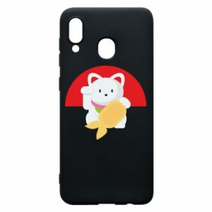 Phone case for Samsung A30 Cat for luck