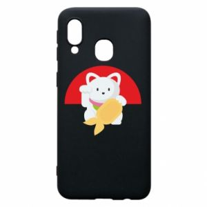 Phone case for Samsung A40 Cat for luck - PrintSalon