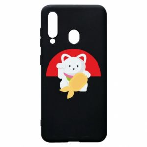 Phone case for Samsung A60 Cat for luck - PrintSalon