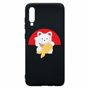 Phone case for Samsung A70 Cat for luck