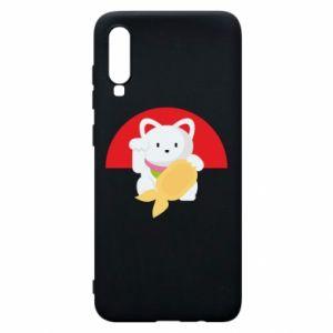 Phone case for Samsung A70 Cat for luck - PrintSalon