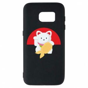 Phone case for Samsung S7 Cat for luck - PrintSalon