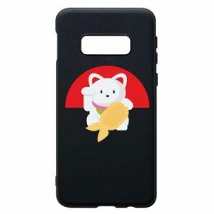 Phone case for Samsung S10e Cat for luck - PrintSalon