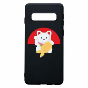 Phone case for Samsung S10 Cat for luck