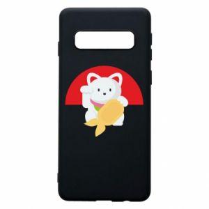 Phone case for Samsung S10 Cat for luck - PrintSalon