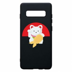 Phone case for Samsung S10+ Cat for luck