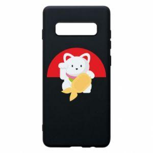 Phone case for Samsung S10+ Cat for luck - PrintSalon