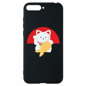 Phone case for Huawei Y6 2018 Cat for luck - PrintSalon