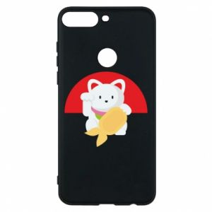 Phone case for Huawei Y7 Prime 2018 Cat for luck - PrintSalon