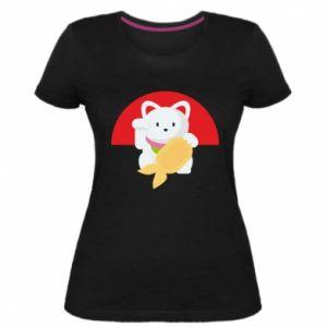 Women's premium t-shirt Cat for luck - PrintSalon