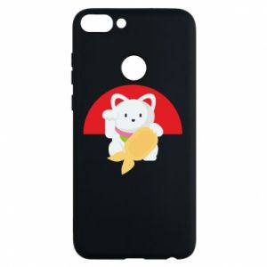 Phone case for Huawei P Smart Cat for luck