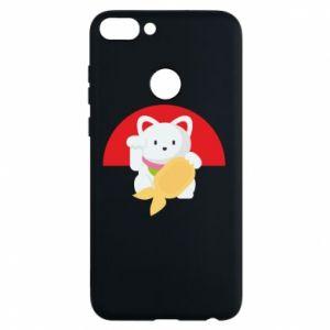 Phone case for Huawei P Smart Cat for luck - PrintSalon