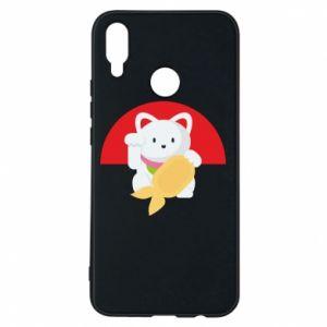 Phone case for Huawei P Smart Plus Cat for luck - PrintSalon