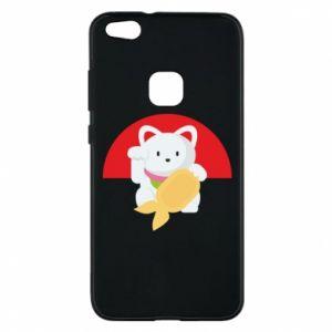 Phone case for Huawei P10 Lite Cat for luck - PrintSalon