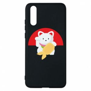Phone case for Huawei P20 Cat for luck - PrintSalon