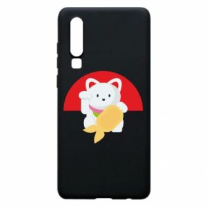 Phone case for Huawei P30 Cat for luck - PrintSalon