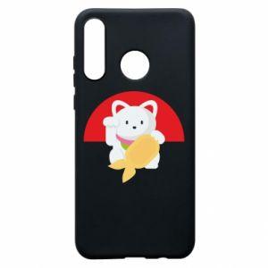 Phone case for Huawei P30 Lite Cat for luck - PrintSalon