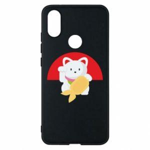 Phone case for Xiaomi Mi A2 Cat for luck - PrintSalon
