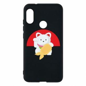 Phone case for Mi A2 Lite Cat for luck - PrintSalon