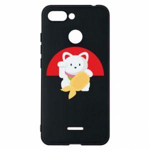 Phone case for Xiaomi Redmi 6 Cat for luck - PrintSalon
