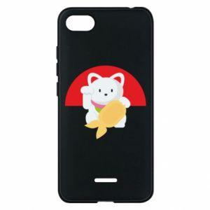 Phone case for Xiaomi Redmi 6A Cat for luck - PrintSalon