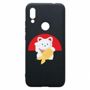 Phone case for Xiaomi Redmi 7 Cat for luck - PrintSalon