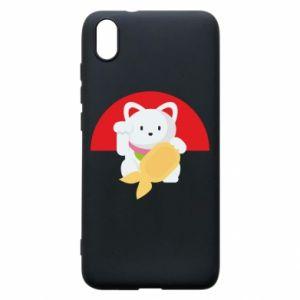 Phone case for Xiaomi Redmi 7A Cat for luck - PrintSalon
