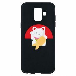 Phone case for Samsung A6 2018 Cat for luck - PrintSalon