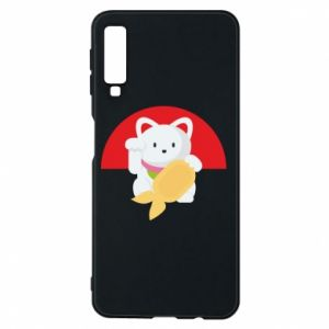 Phone case for Samsung A7 2018 Cat for luck